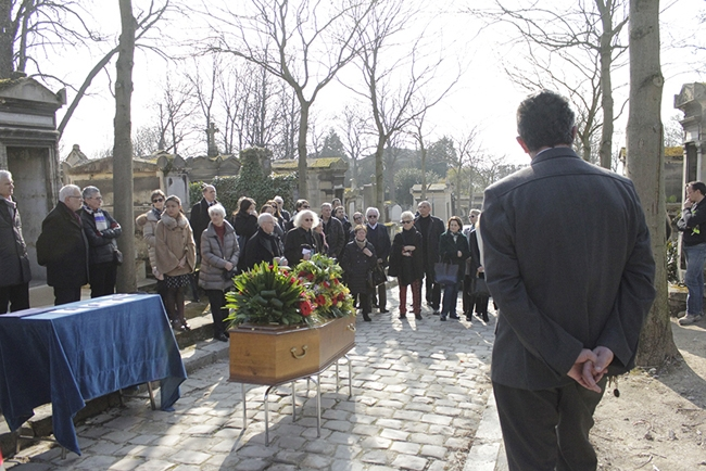 Za Terry Haasovou (+1. března 2016) | Pohřeb Terry Haas, 12. 3. 2016, Paříž, Père Lachaise, foto Roman Kameš
