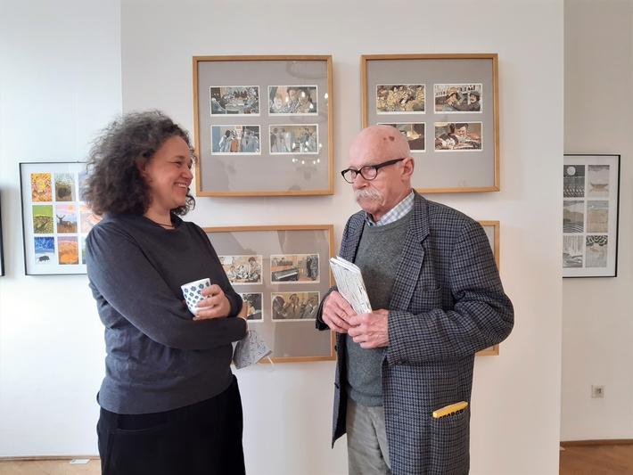 OTÁZKA / Lucie Raškovová | Lucie Raškovová a Jan Rous, Galerie Hollar, 2021, foto Kateřina Slezáková