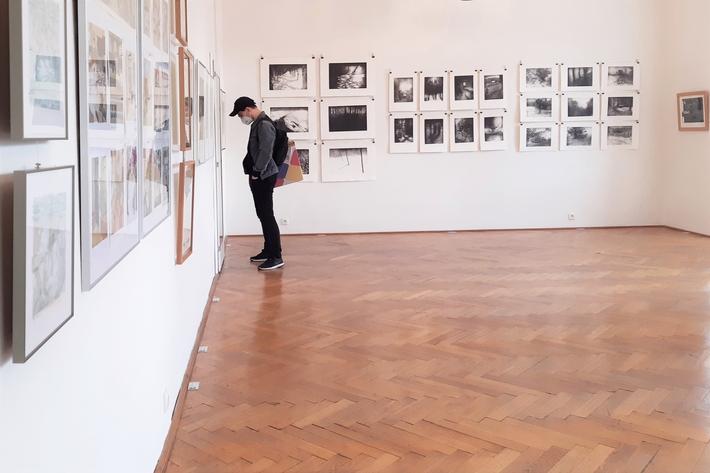 OTÁZKA / Lucie Raškovová | Pohled do expozice, Galerie Hollar, foto Jan Veselý
