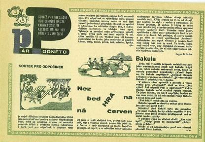 Tato víra je i pozadím roudnické výstavy (rozhovor s Duňou Slavíkovou) | Eugen Brikcius, Nezbedné hry, Ohníček XXI, č. 19, 1971