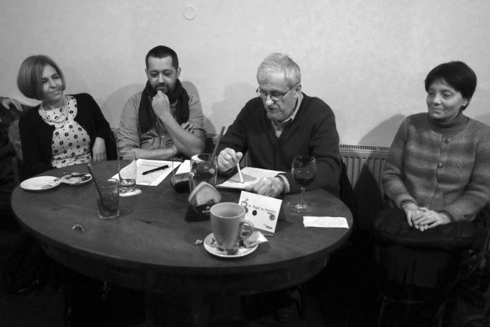 Proslov na uvedení knihy Události (v kavárně Jericho, Praha 27. 11. 2014) | Foto Karel Cudlín, 2014