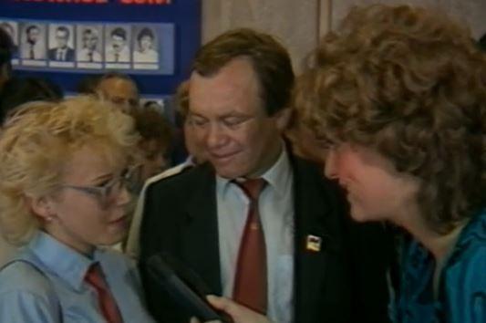 Profesor Prečan na bitevním poli  | Kateřina Perknerová, záběr z Československé televize, 1987