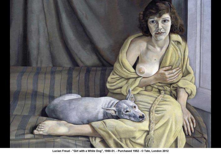 TŘI/III. | Lucian Freud, Dívka s bílým psem