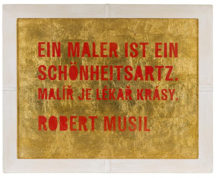 Moosbrugger, Přítomnost a Lékař krásy | Der Schönheitsartz / Lékař lásky, 2013, kombinovaná technika, 59,5 x 74