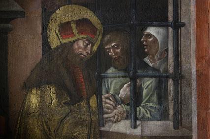 Svatému Václavu k svátku | Sv. Václav navštěvuje vězně, Svatováclavská kaple katedrály sv. Víta