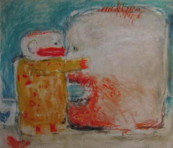 Ohlédnutí za malířkou Romanou Královou | Po meči, 1992, olej, plátno, 100 x 90