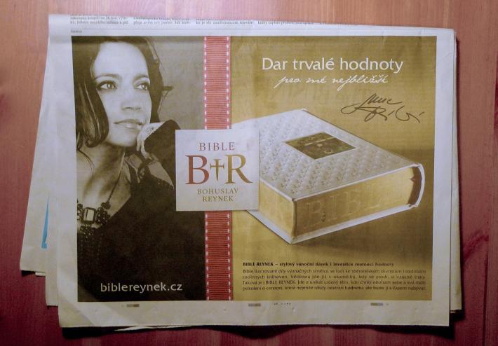 Nekonečný příběh: Reynek, Chagall a Bible, tentokrát s pomocí Lucie Bílé | Lidové noviny, 13. 12. 2014