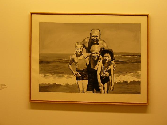 Není výstava jako výstava čili případ Gerhard Richter   Rodina u moře, 1964 (Vídeň)