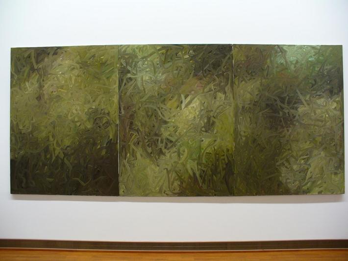 Není výstava jako výstava čili případ Gerhard Richter | Bez názvu (Zelená), 1971 (Vídeň)