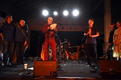 Laudatio při udělení Ceny Revolver Revue Josefu Žáčkovi, 16. října 2015 v Praze  | foto Karel Cudlín