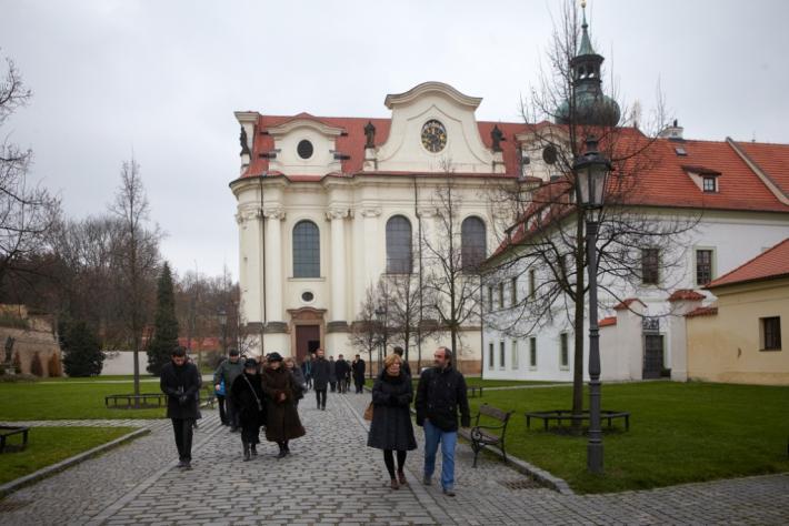 Kázání na pohřbu Zbyňka Hejdy (Břevnovský klášter, 21. 11. 2013) | foto Ondřej Němec