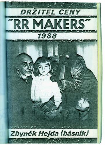 K nedožitým narozeninám Zbyňka Hejdy | Samizdatové oznámení o Ceně RR za rok 1988, Revolver Revue 10/1988, foto archiv RR