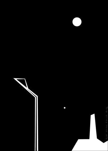 Lampa, Měsíc a Slunce