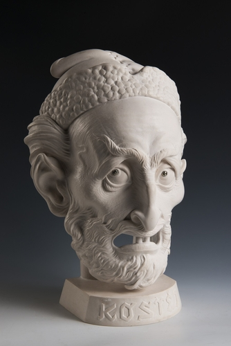 Za sochařem Zdeňkem Preclíkem (20. 1. 1949 – 21. 3. 2021) | Kostěj, 2018, acrystal