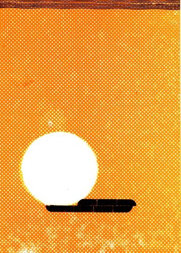 OTÁZKA / Lucie Raškovová | Pohlednice z cyklu Pozdravy z prázdnin, tisk z výšky, knihtiskové rastrové tangýry, linky a tradiční dřevěná sazba, 2019