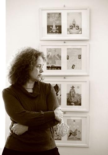 OTÁZKA / Lucie Raškovová | Lucie Raškovová, Galerie Hollar, 2021, foto Jaromír Žegklitz