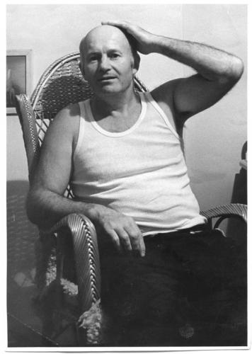 Toužil jsem hlavně to umět  | Stanislav Podhrázský v ateliéru v Tomášské ulici na Malé Straně, 1972, foto Jan Svoboda