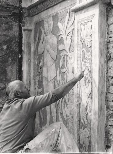 Toužil jsem hlavně to umět  | Restaurování zámku Litomyšl, zač. 80. let, foto Marie Zoubková