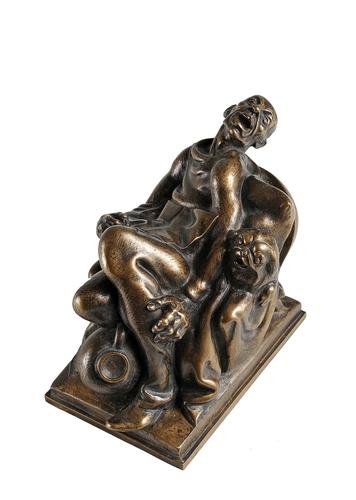 Za sochařem Zdeňkem Preclíkem (20. 1. 1949 – 21. 3. 2021) | Čtenář Haškova Světa zvířat II – tzv. hubený Hašek, návrh na fontánu, 1989