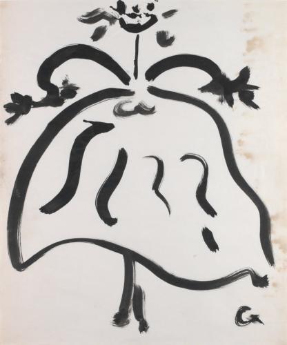 OTÁZKA / Anna PRAVDOVÁ | 50. léta, tuš, papír