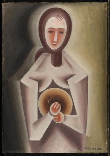 Podivná čapkovská kniha | Kontemplace, 1915, olej na plátně, 66 x 46 cm