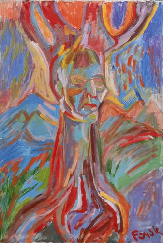 Když přestává tvořit, začne ničit (K nedožitým sedmdesátinám) | Duch stromu (2001), olej na plátně