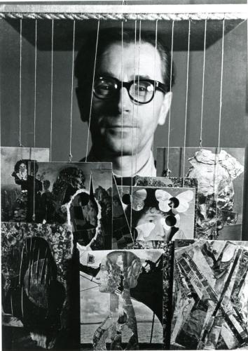 Před patnácti lety zemřel Jiří Kolář (24. září 1914 – 11. srpna 2002) | Jiří Kolář, počátek 60. let, foto Eva Fuka