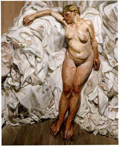 TŘI/III. | Lucian Freud, Stojící u hadrů