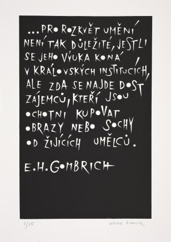 Typografiky Viktora Karlíka | E. H. Gombrich, 2007, serigrafie