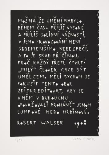 Typografiky Viktora Karlíka | Robert Walser 1908, 2007, serigrafie