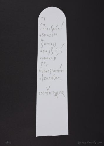 Typografiky Viktora Karlíka | Zdeněk Palcr, 2010, serigrafie