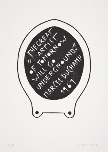 Typografiky Viktora Karlíka | Marcel Duchamp, 2009, serigrafie
