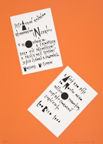 Typografiky Viktora Karlíka | McLuhan – L. Reed, 2008