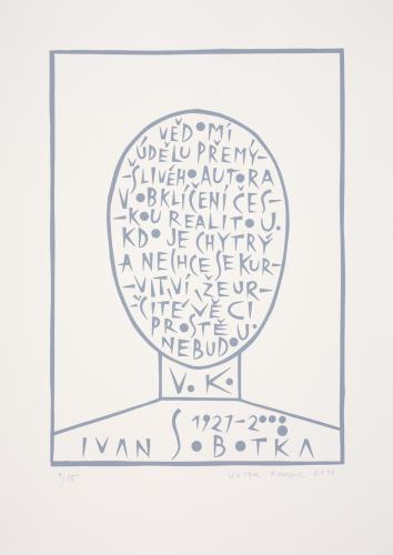 Typografiky Viktora Karlíka | Ivan Sobotka, 2010, serigrafie