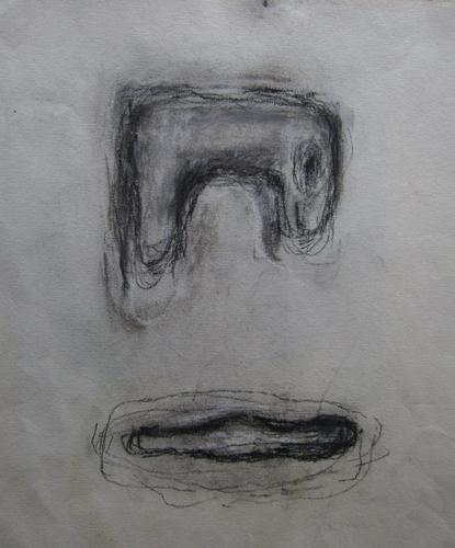 Ohlédnutí za malířkou Romanou Královou | Bez názvu, nedatováno, uhel, papír, 24 x 25,