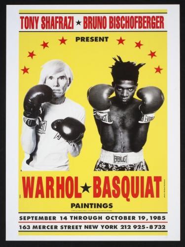 TŘI/III. | Plakát k výstavě Warhol / Basquiat