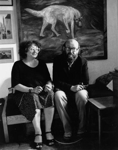 Za Olgou Stankovičovou   Olga Stankovičová a Nikolaj Stankovič, Stará Říše, kolem roku 1990, foto H. Wilsonová
