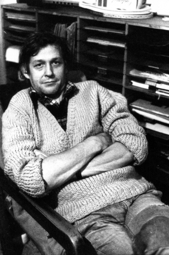 Prokop Voskovec – + 9. února 2011. Dvě vzpomínky – I. Miloslav Žilina  | Prokop Voskovec, Fastrova ulice, 26. 10. 1978, foto Milan Pitlach