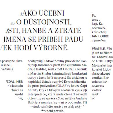 Babišovy Lidové noviny (anketa Revolveru) II.